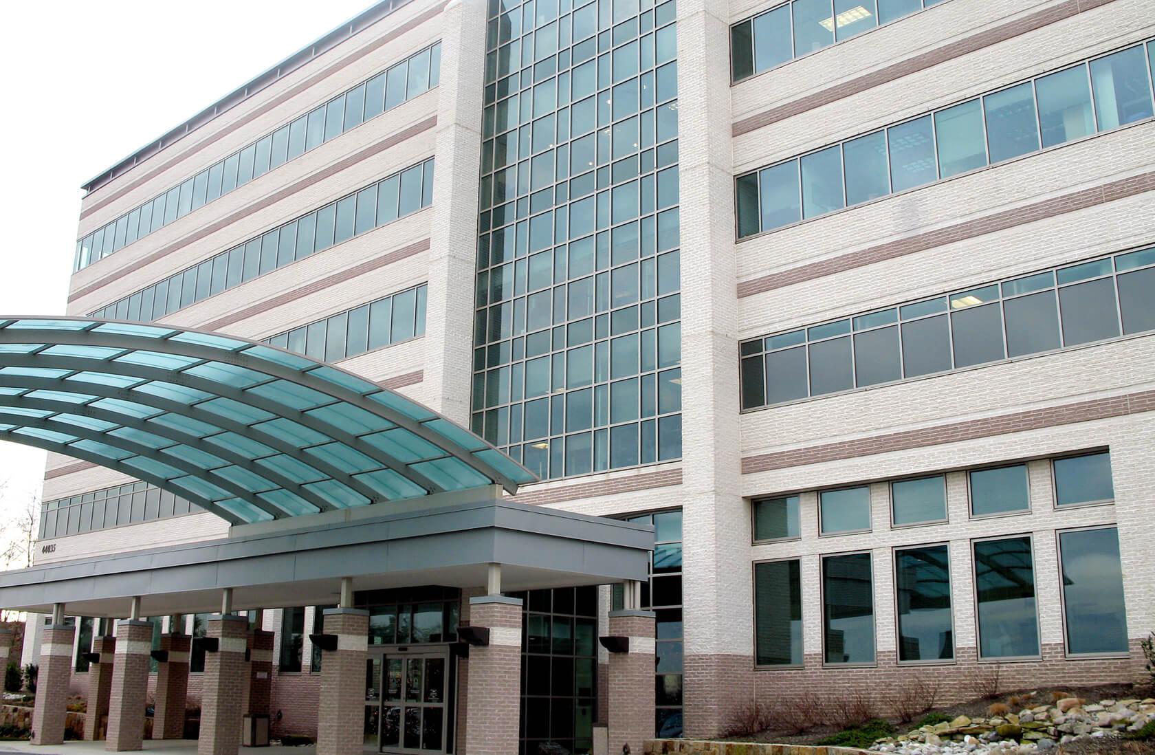 Inova Loudoun Hospital concrete block exterior