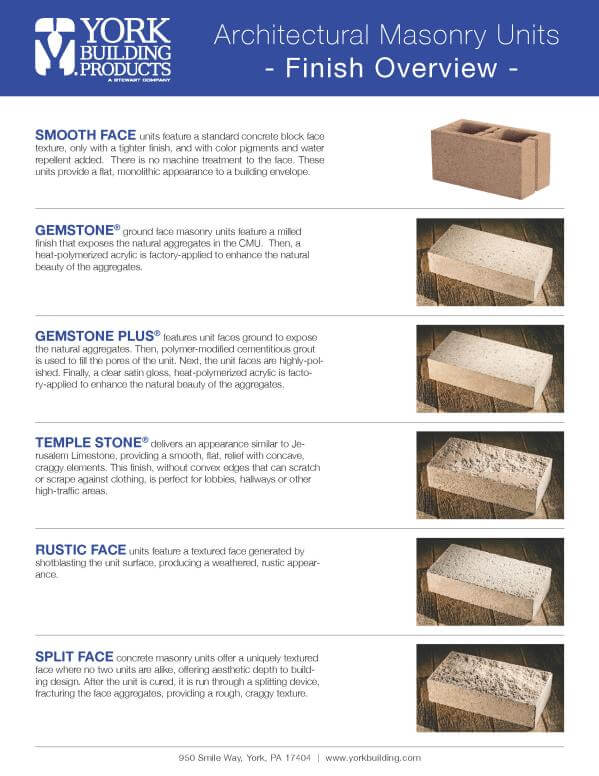 Architectural Masonry Finish Overview