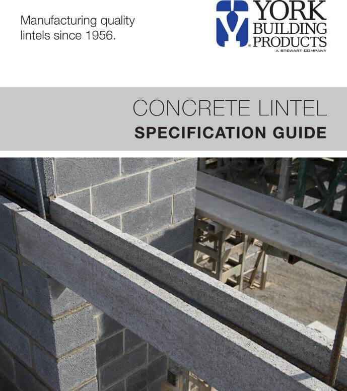 Concrete Lintel Specification Guide