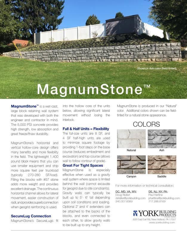 MagnumStone Cut Sheet