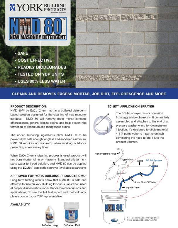 NMD 80 Masonry Cleaner Cut Sheet