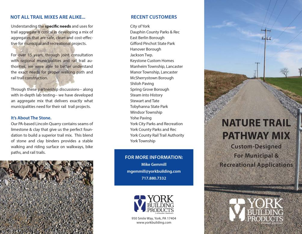 Nature Trail Pathway Mix Brochure