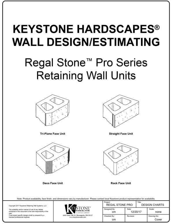 Regal Stone Pro Design Estimating Charts