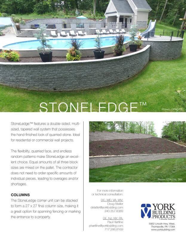 StoneLedge Cut Sheet