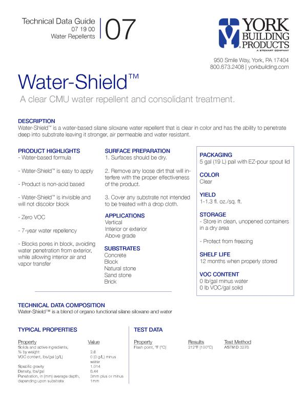 Water-Shield Technical Guide