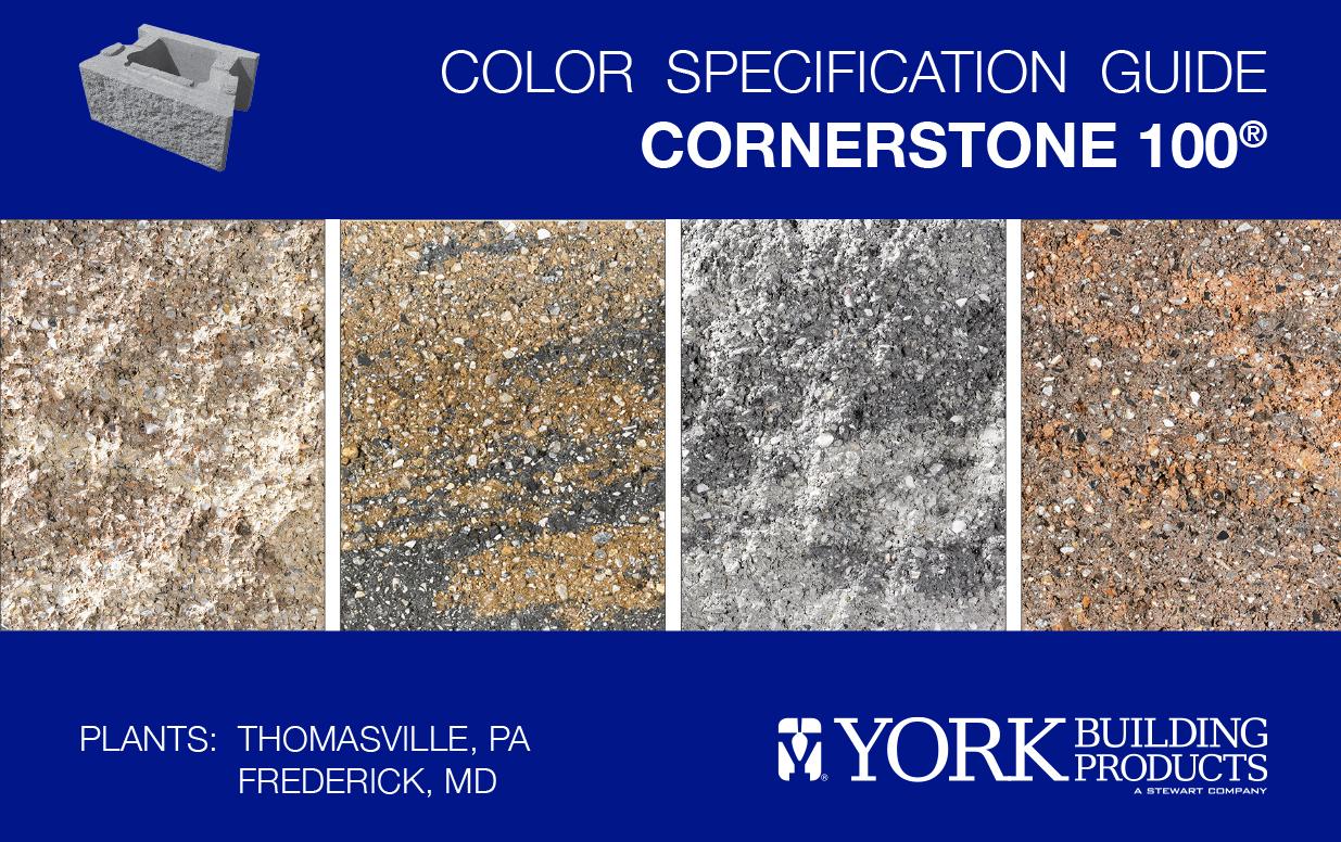 CornerStone 100 Color Guide