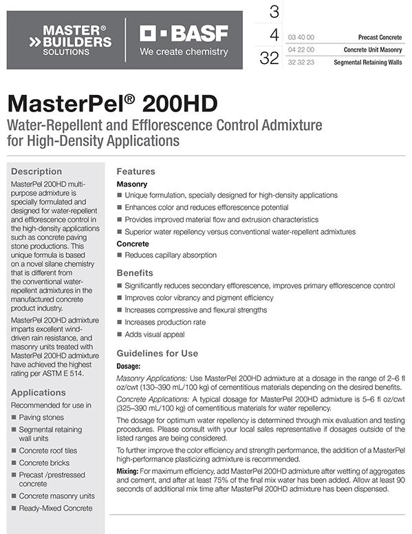 MasterPel® 200HD TDS