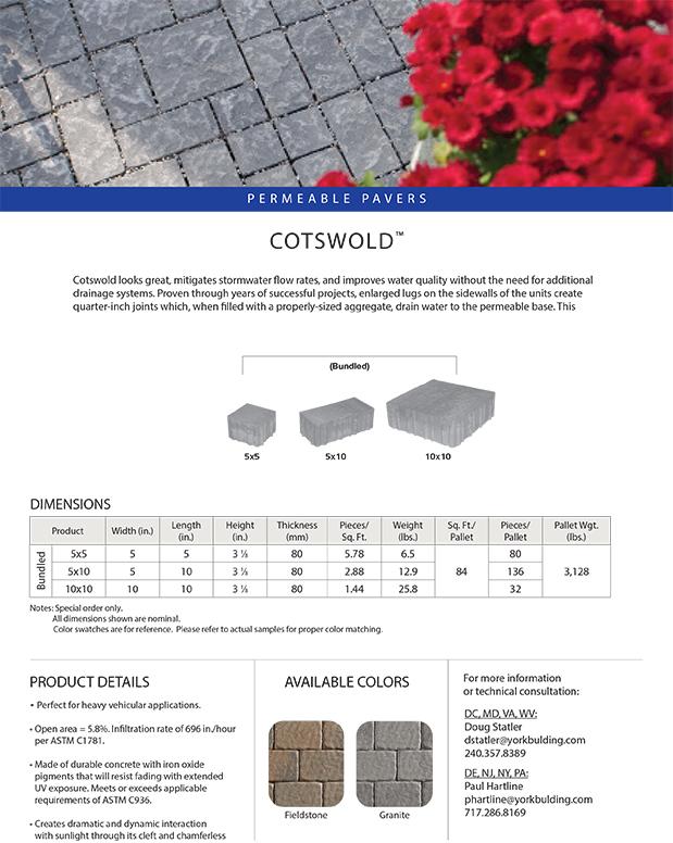 Cotswold Cut Sheet