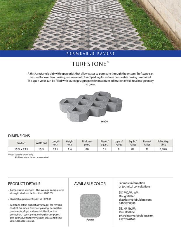 Turfstone Cut Sheet